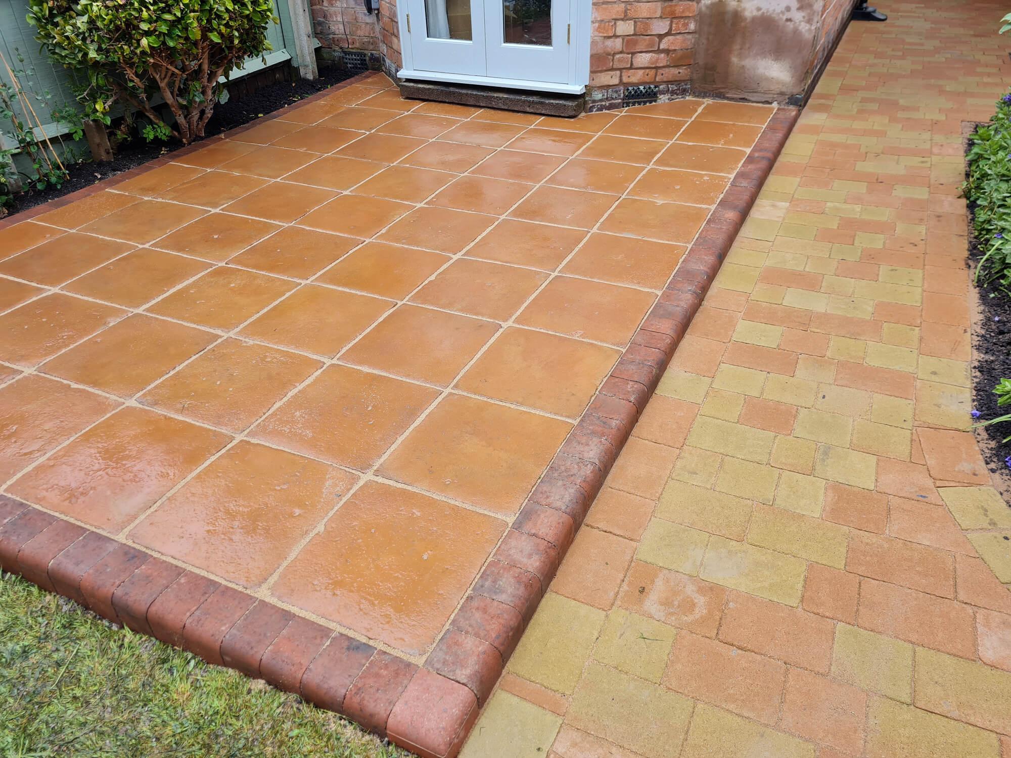 JD Landscapes Patio Terracotta Concrete Slabs